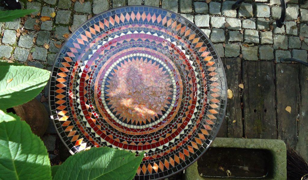 Runder Mosaiktisch (Nr. 1)