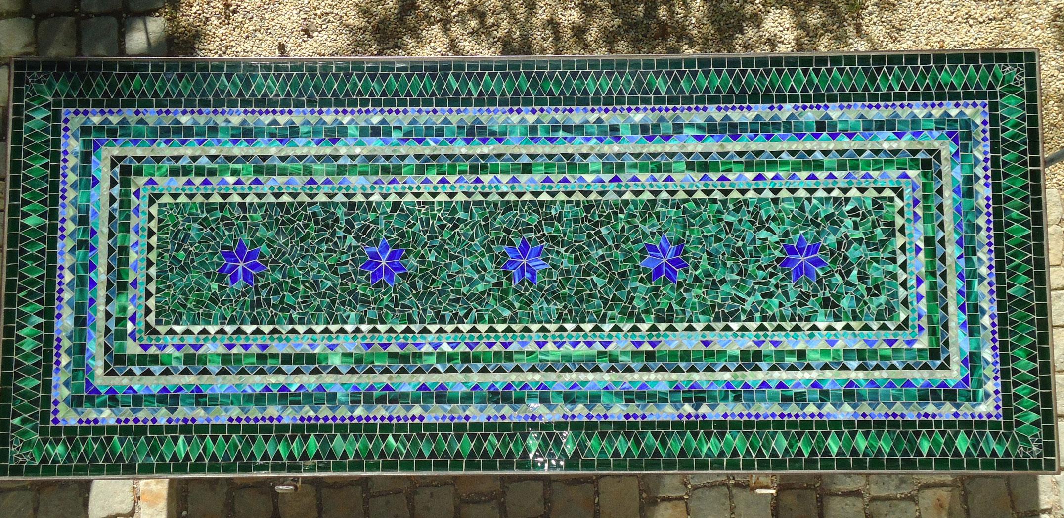 Großer Mosaiktisch - Liebe zum Detail (Nr. 50)