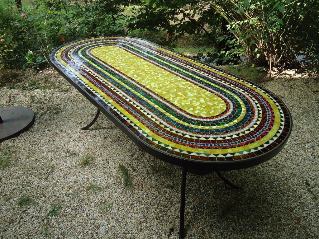 XXL-Mosaiktisch oval (Nr. 82)