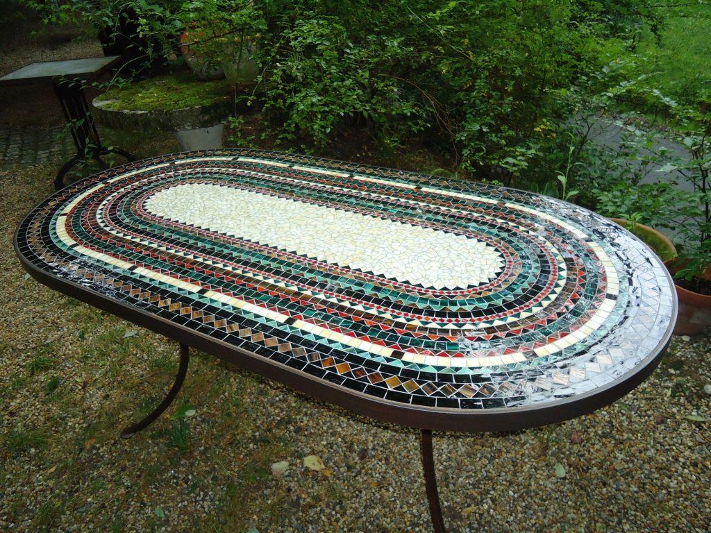XXL-Mosaiktisch oval (Nr. 83)