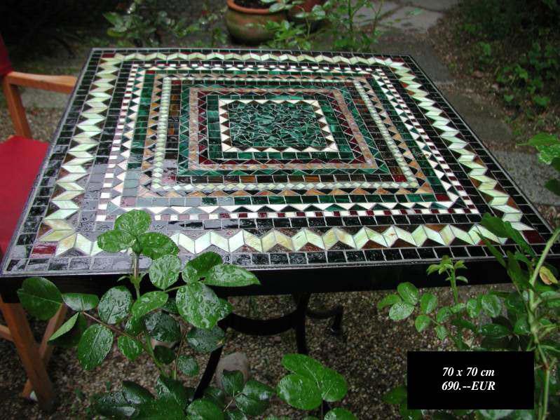 Quadratischer Mosaiktisch - 70x70 (Nr. 116)